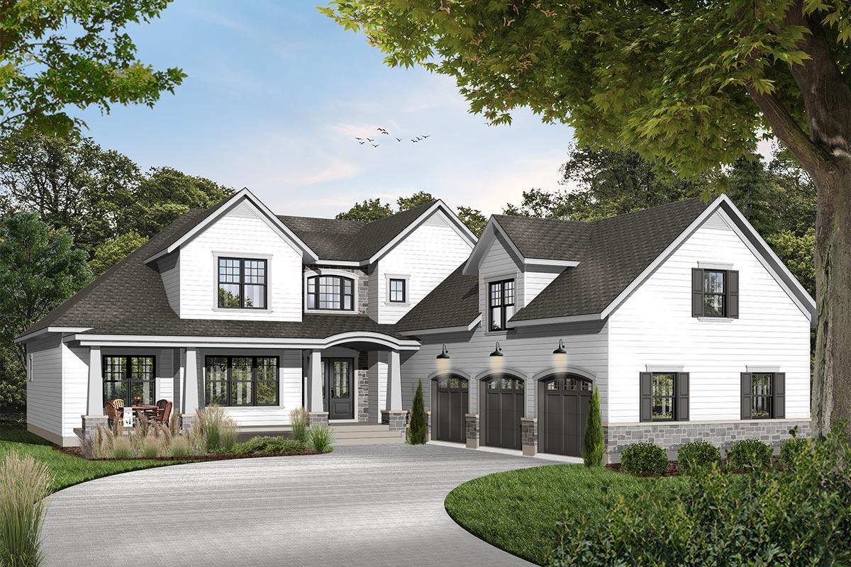 Eye-Catching 4-Bed Modern Farmhouse Plan - 21162DR ...