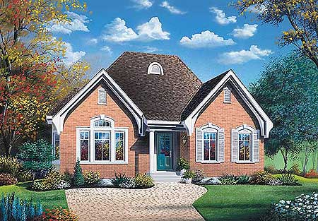 Small House Plan with Open Floor Plan - 21210DR ...