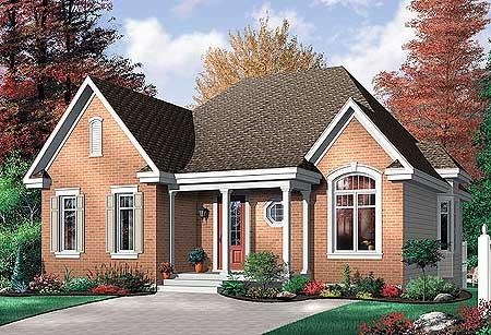 Fabulous Plan 21213Dr Economical 2 Bedroom Brick House Plan Download Free Architecture Designs Rallybritishbridgeorg