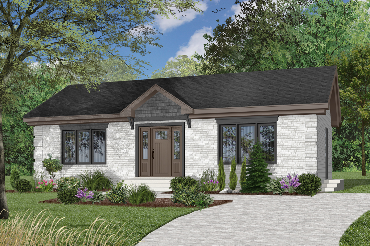 Simple 2 Bedroom House Plan - 21271DR | Architectural ...