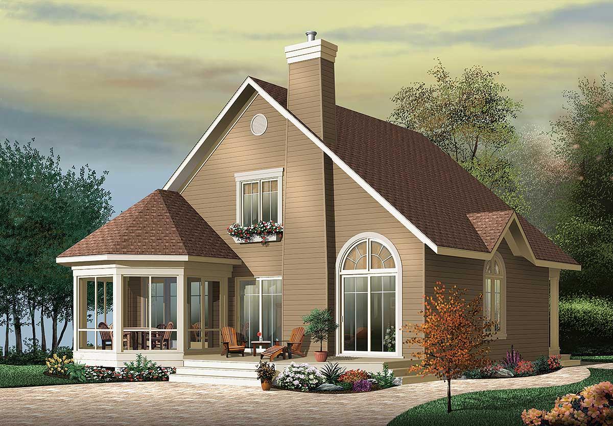 Round Homes Designs: Year-Round Vacation Cottage - 21566DR