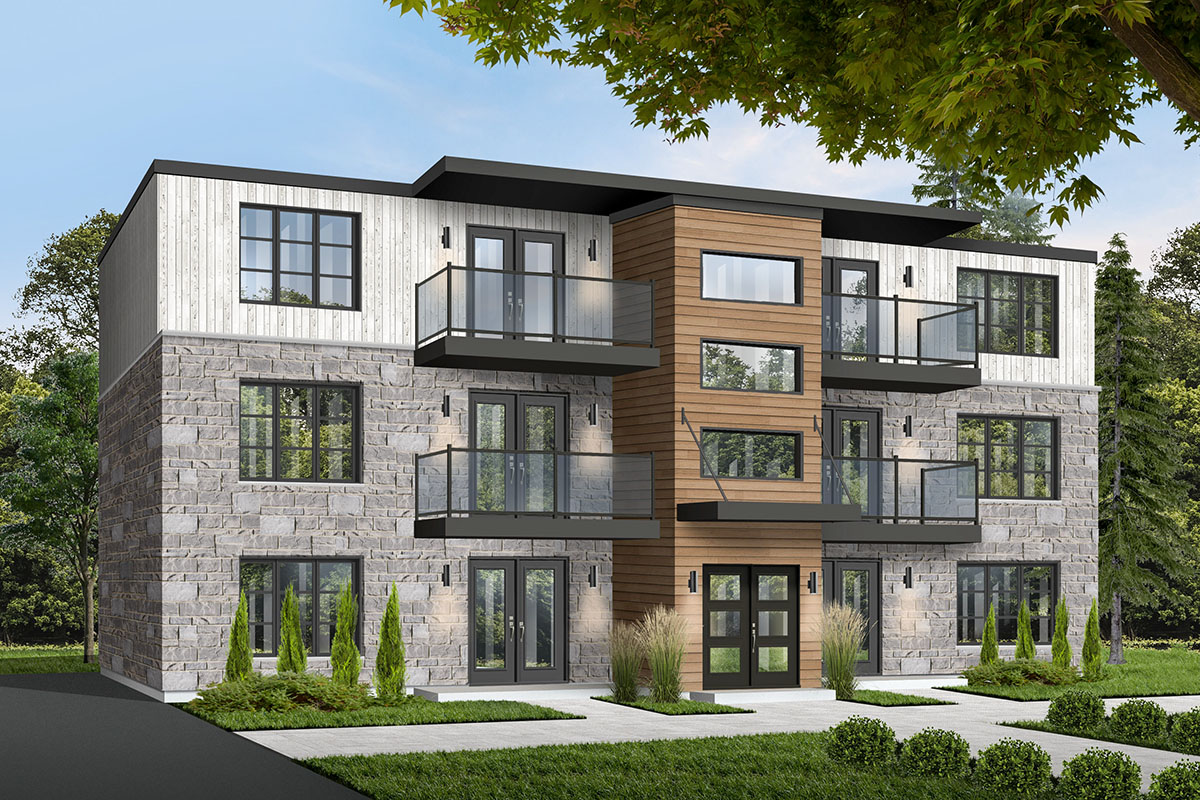 6-Unit Modern Multi-Family Home Plan