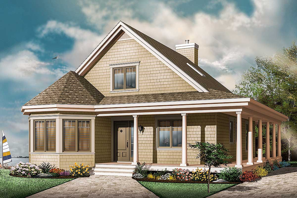 3 Bedroom Country House Plan With Wrap-Around Porch