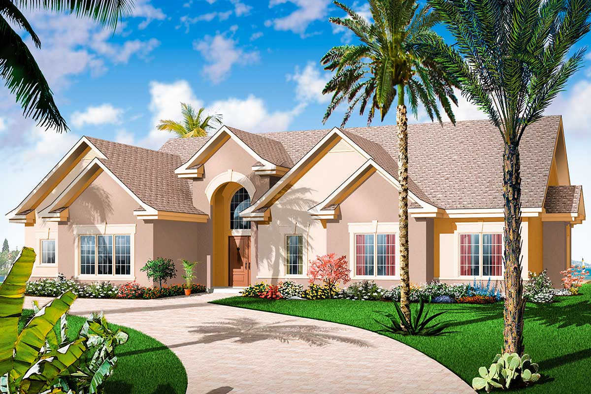 Airy Florida Style Ranch 21651dr Architectural Designs