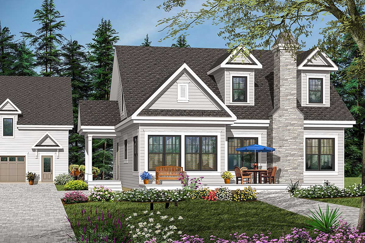 Farmhouse Modern Cottage style house plan offering lots of ...