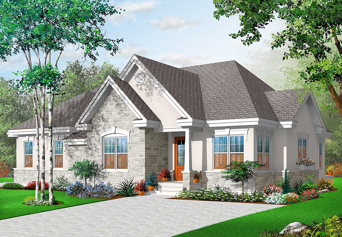 Home Plan  with In Law  Suite  21769DR Architectural