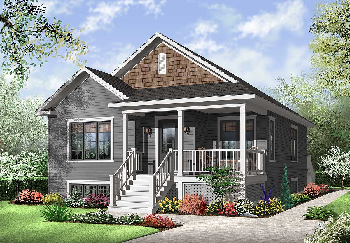 Attractive Two Bedroom House Plan - 21783DR ...