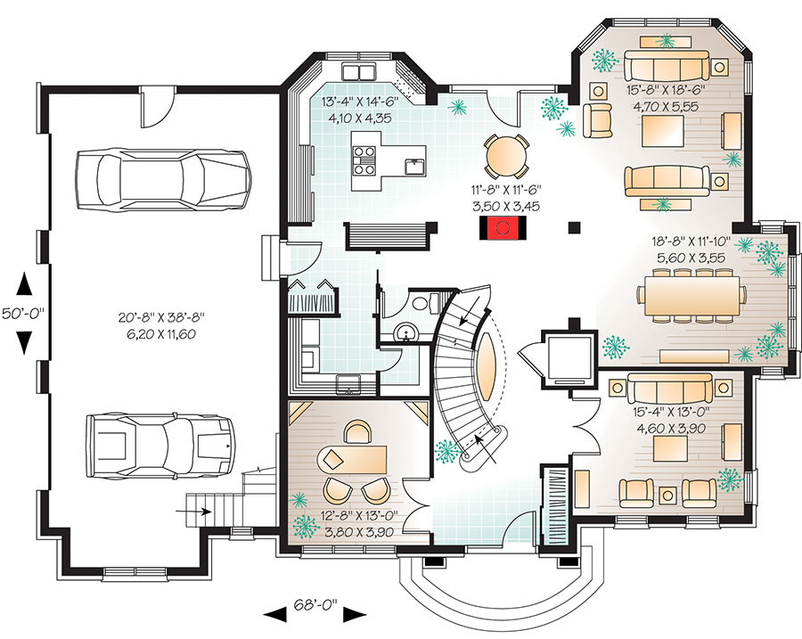 home plans with elevators manor house plan with elevator 21886dr architectural designs house plans 1830