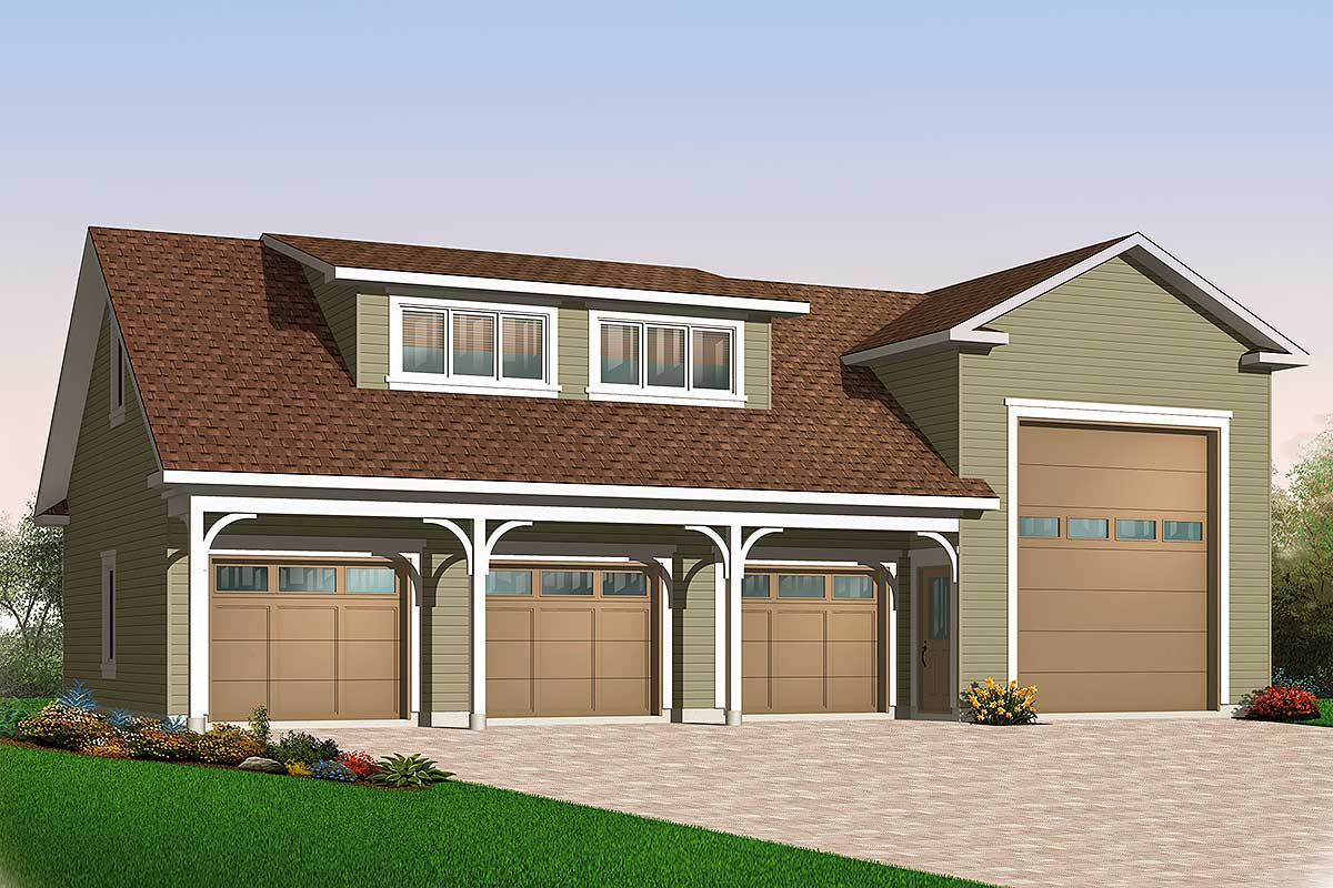 4-Car RV Garage - 21926DR | Architectural Designs - House ...