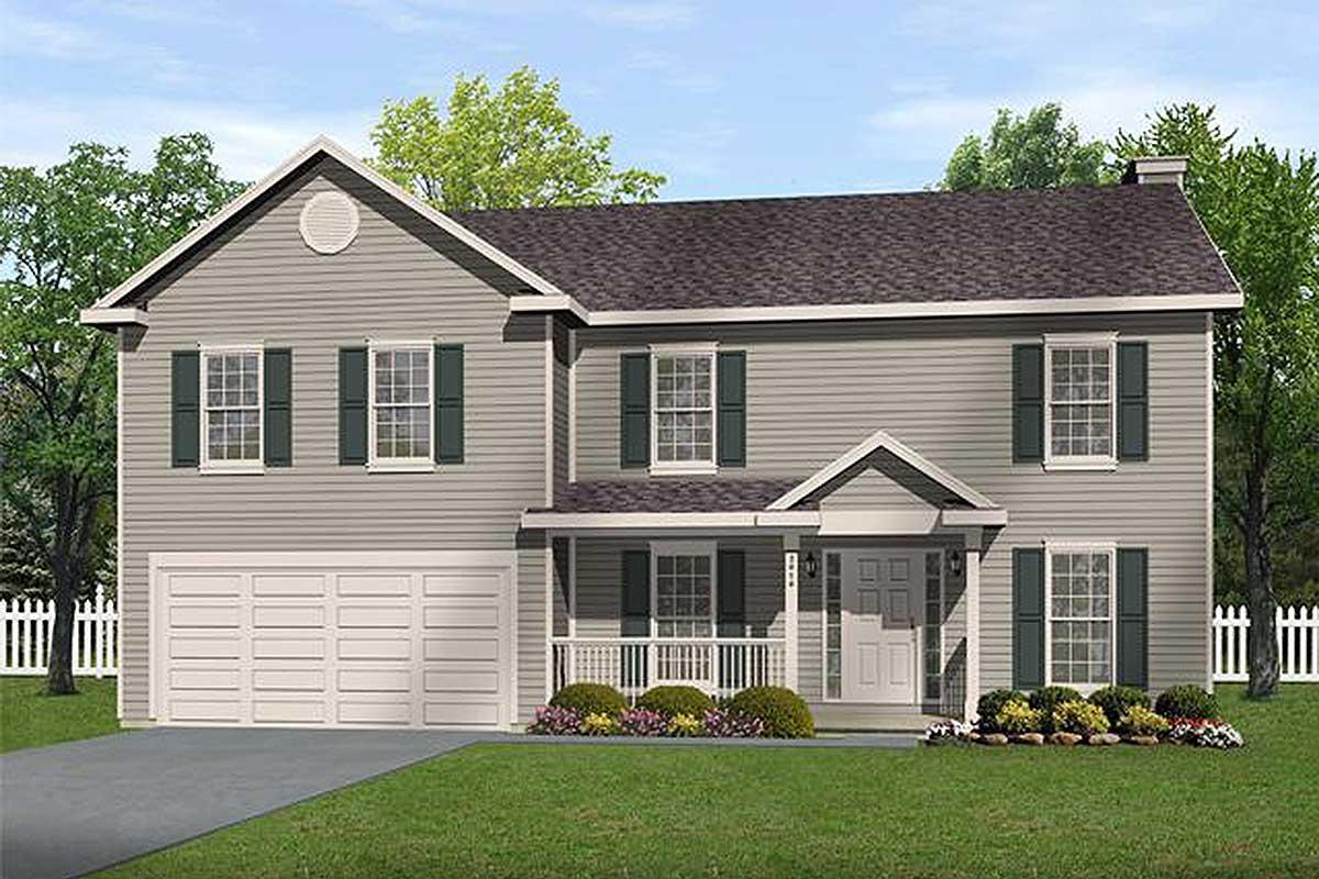 Economical 2-Story Home Plan - 2208SL
