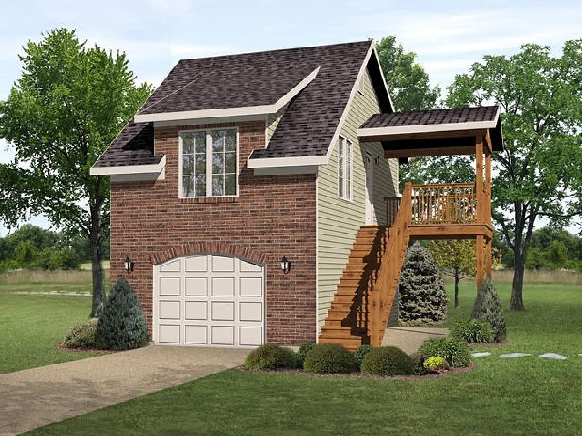 Narrow Lot Garage Apartment 22100sl Architectural Designs House Plans