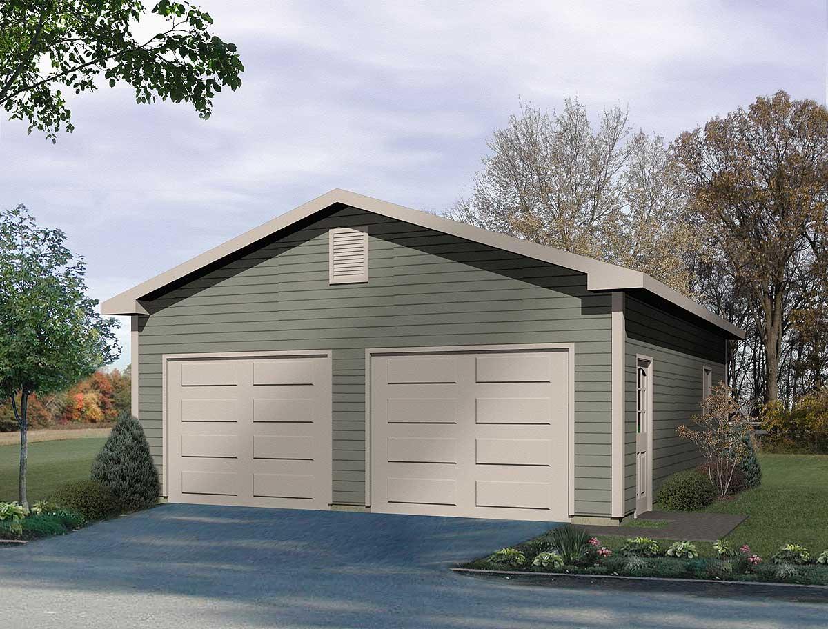 Detached Two Car Garage 2215SL Architectural Designs