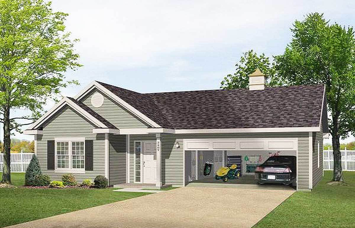 One Story Garage Apartment 2225sl Architectural Designs House Plans