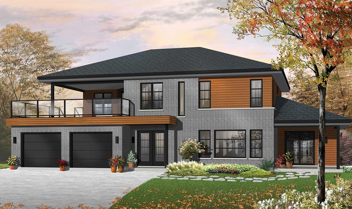 Contemporary Bi-generational House Plan