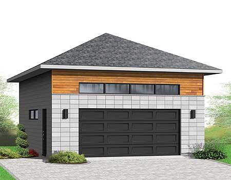 Detached 2 Car Garagewith Hip Roof 22372dr