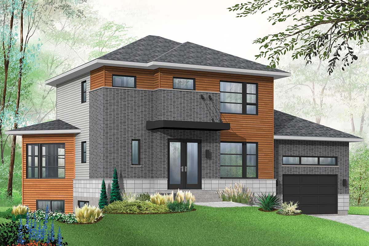 House Plan With Bachelor Apartment