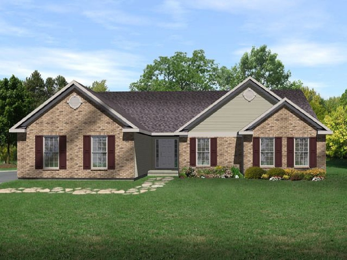 Traditional Ranch House Plan - 2244SL