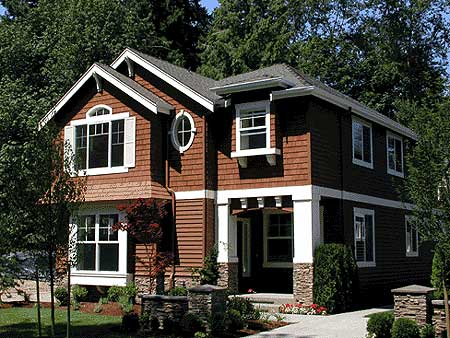 Plan 23059JD: Spacious Narrow Lot Craftsman House Plan on mountain house plans with view, 3 bedroom house plans with view, hillside house plans with view, contemporary house plans with view, craftsman house plans with view, ranch house plans with view, small house plans with view, open floor plans with view,