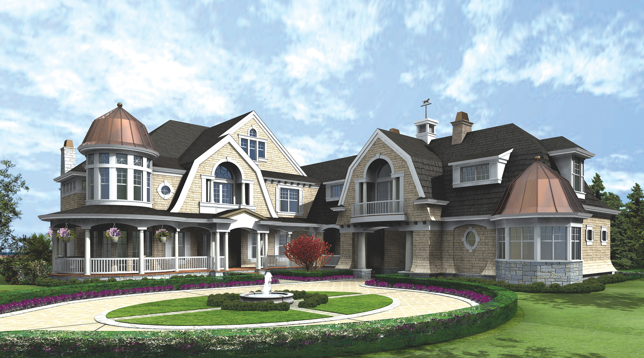 Spectacular Hampton Style Estate   23220JD | Architectural Designs   House  Plans