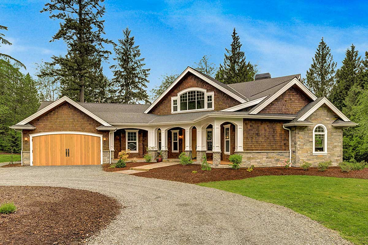 Dramatic Craftsman House Plan - 23252JD