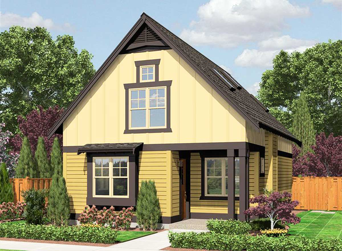 Home Design Plans: Cozy Cottage With Options - 23398JD