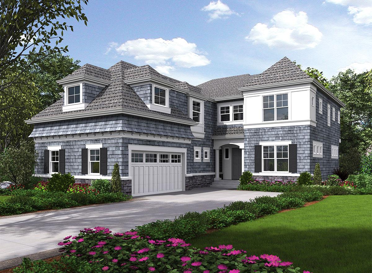 Five Bedroom Shingle Style House Plan 23578jd