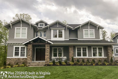 House Plan 23589JD comes to life in Virginia with a side-entry garage - photo 001
