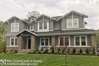 House Plan 23589JD comes to life in Virginia with a side-entry garage - photo 002