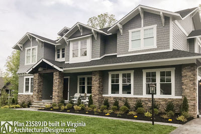 House Plan 23589JD comes to life in Virginia with a side-entry garage - photo 003