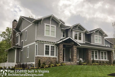 House Plan 23589JD comes to life in Virginia with a side-entry garage - photo 004