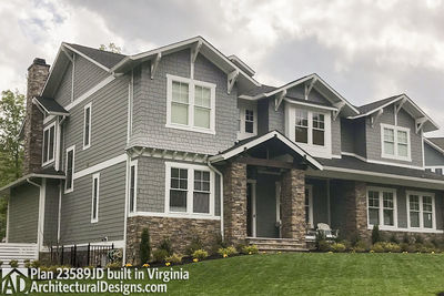 House Plan 23589JD comes to life in Virginia with a side-entry garage - photo 005