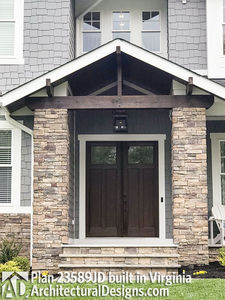 House Plan 23589JD comes to life in Virginia with a side-entry garage - photo 006