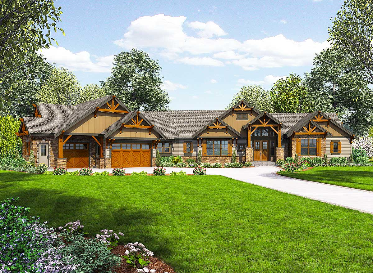 One Story Mountain Ranch Home with Options - 23609JD ...