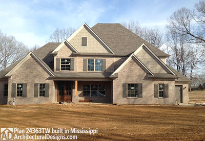 House Plan 24363TW comes to life in Mississippi! - photo 001