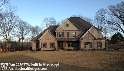 House Plan 24363TW comes to life in Mississippi! - photo 002