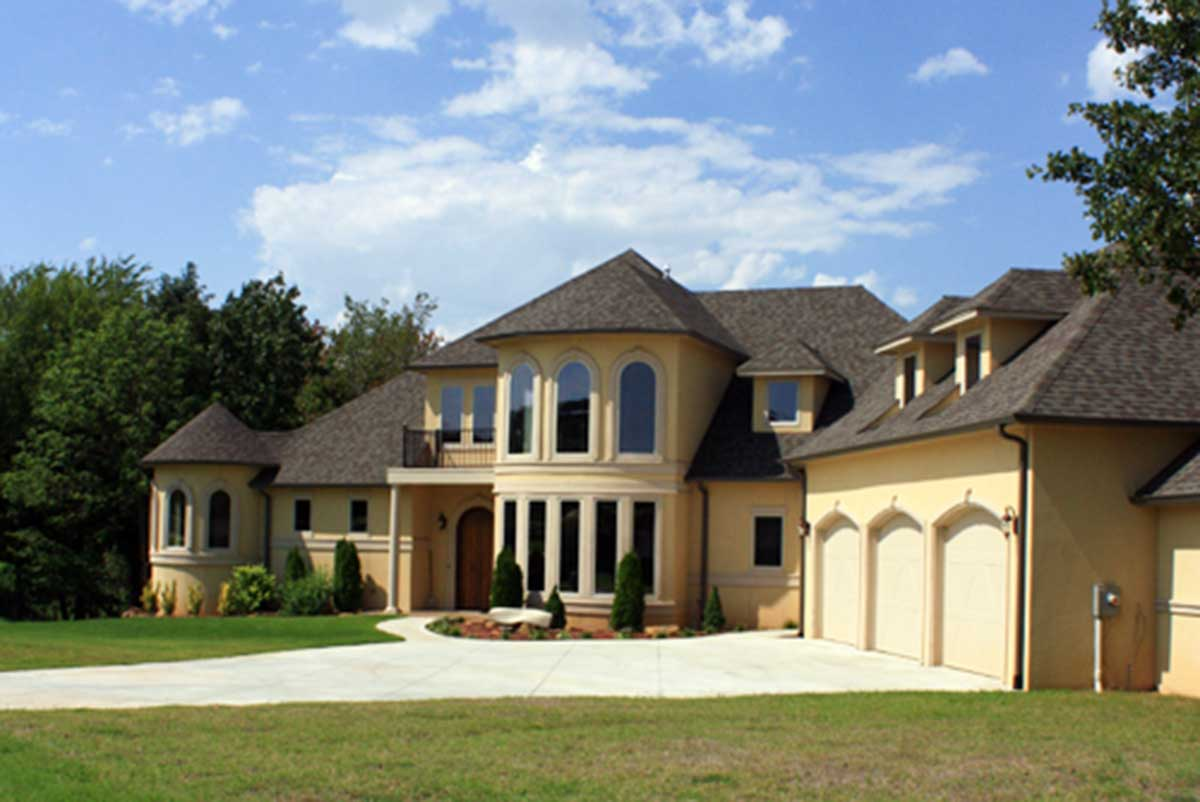 Exclusive House Plan with Angled 3 Car Garage 24619GK