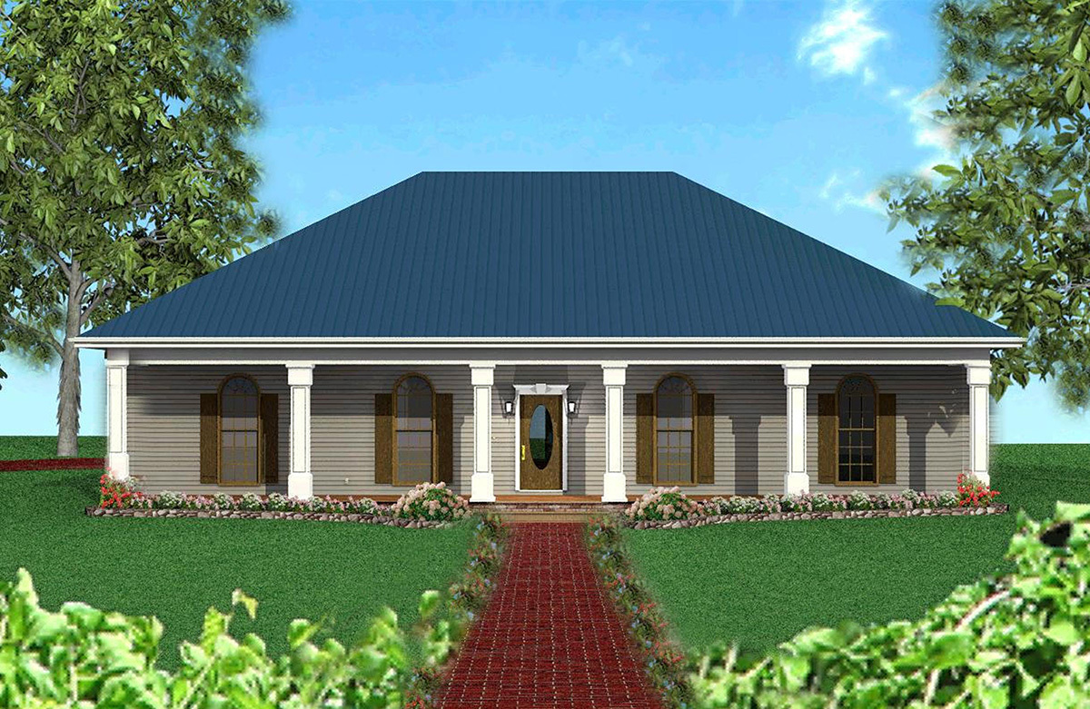 Classic Southern With A Hip Roof 2521dh Architectural Designs House Plans