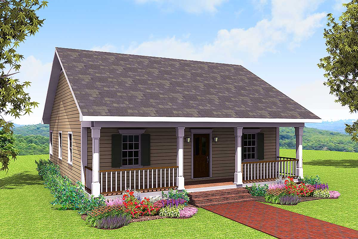 Cute Country Cottage 2561DH Architectural Designs