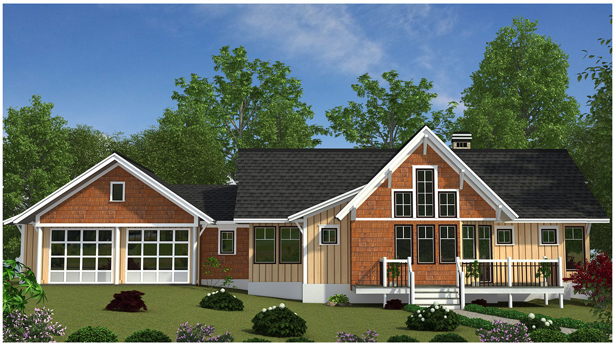 Mountain Cottage With Attached Garage 26693GG