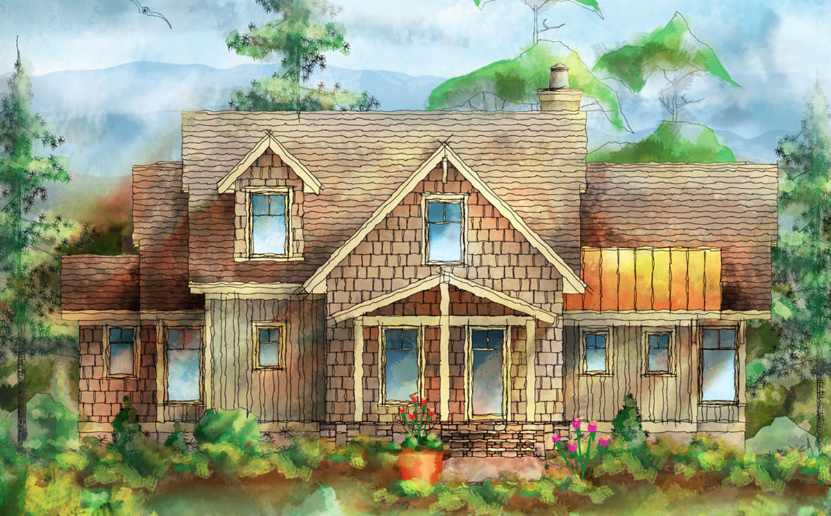 Mountain Cottage With Detached Garage 26695gg
