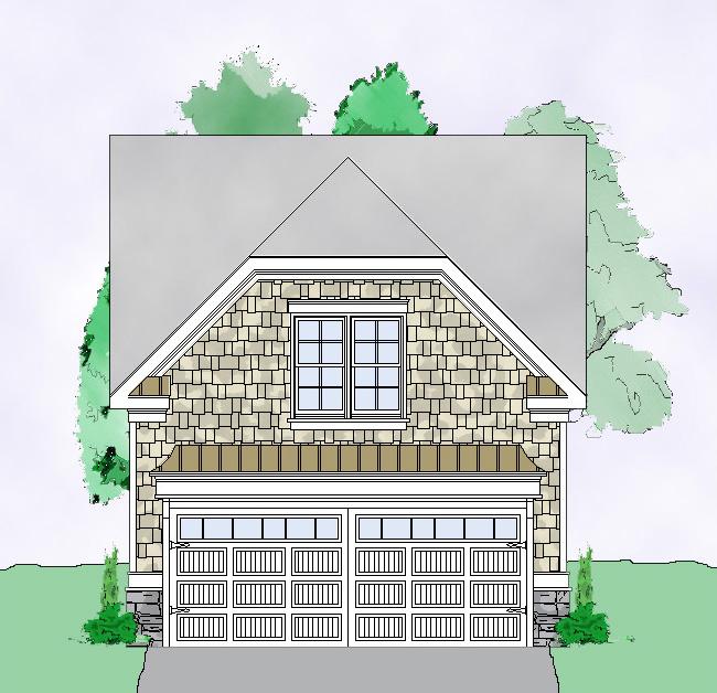 Garage Designs Building A Detached Garage Designs The: Detached Guest House Plan - 29852RL