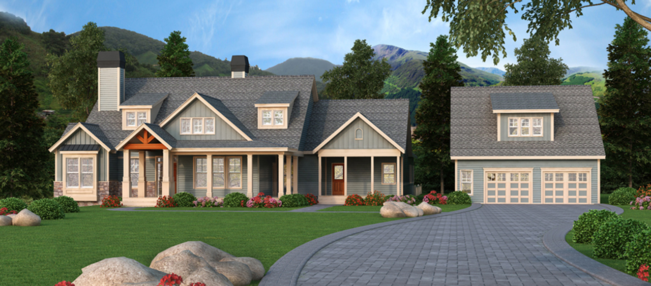 Craftsman Retreat With Detached Garage