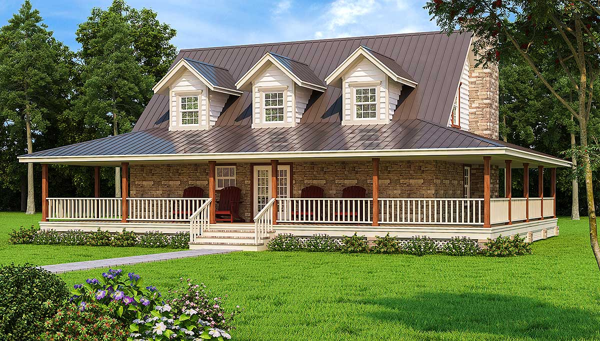 Wonderful Wrap-Around Porch - 3027D