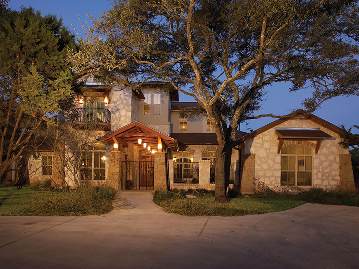 Stone Home Designs: Stone Cottage With Courtyard - 31114D