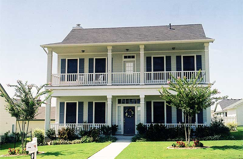 Delightful Stacked Porches 31176d Architectural