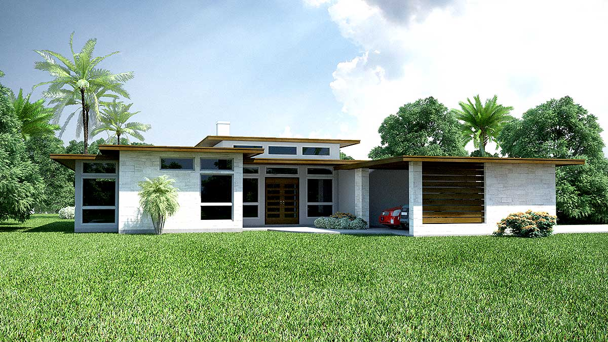 3 Bed Modern Ranch House Plan - 31186D   Architectural ...