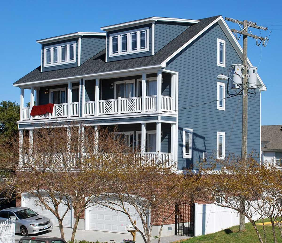 House Plans Duplex Plans Row Home: Coastal Duplex House Plan - 31505GF