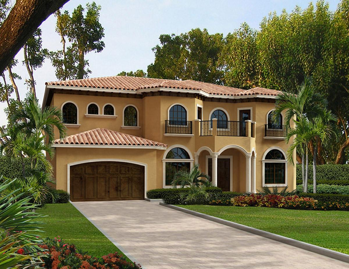 Five Bedroom Mediterranean Home Plan - 32236AA ...