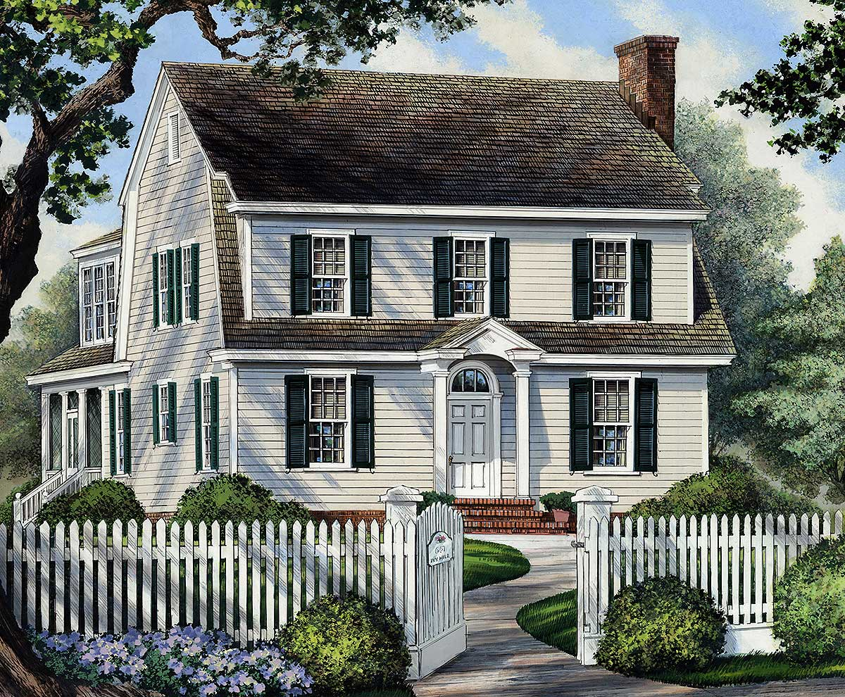 Colonial Home For Narrow Lot - 32417WP