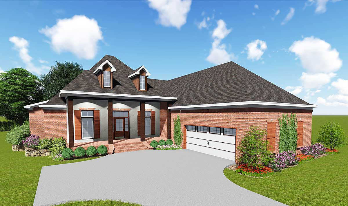 One Level Acadian House Plan - 83881JW